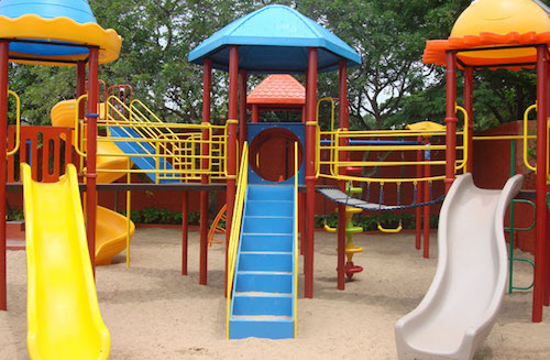 contianer home playground set (actual equipment and colors may be different)