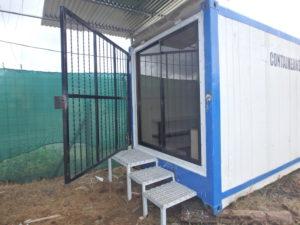 Emergency shelter home steel door