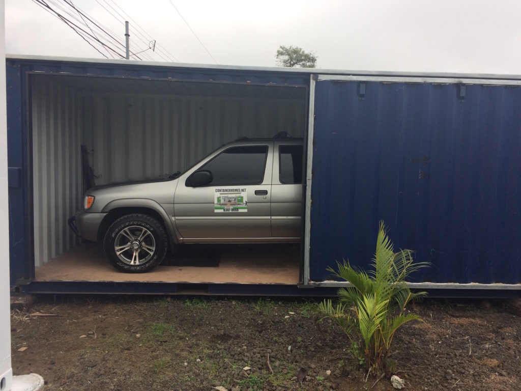 Container Car Garage : Car and truck garage in a container containerhomes